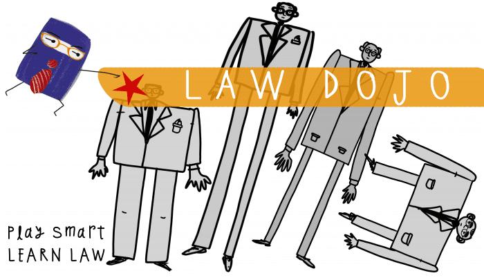 Law Dojo - Ninja Topples Lawyers scene