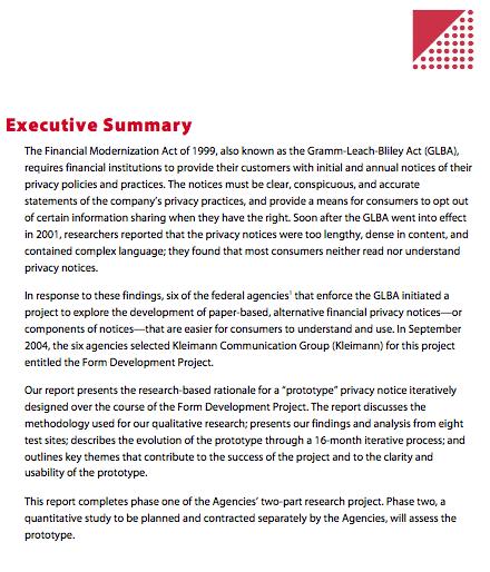 Open Law Lab - Good INformation Design - Executive Summary