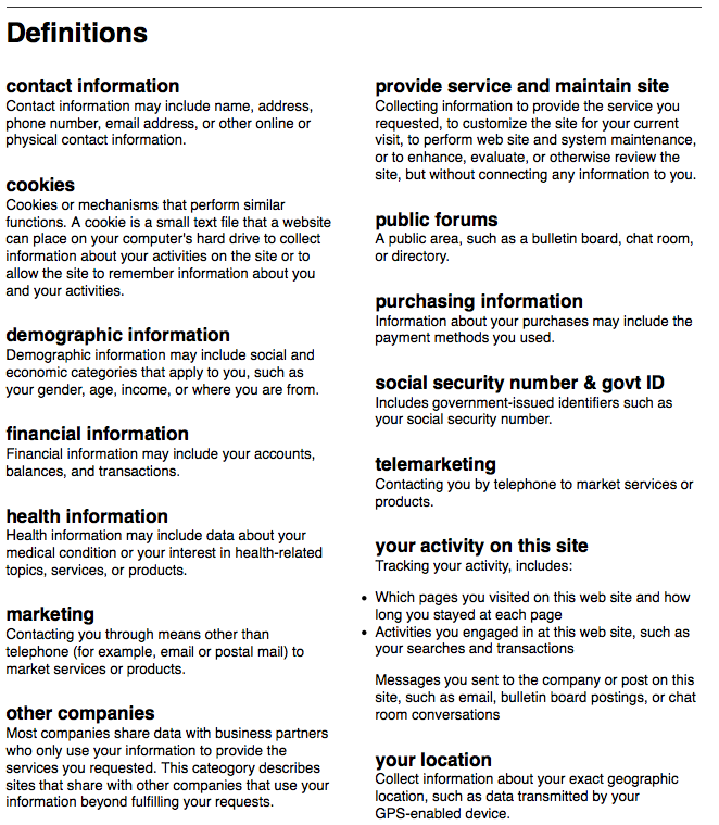 Cylab privacy policy good design 3