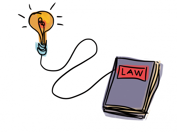 Law By Design - Redesign lightbulb illustration