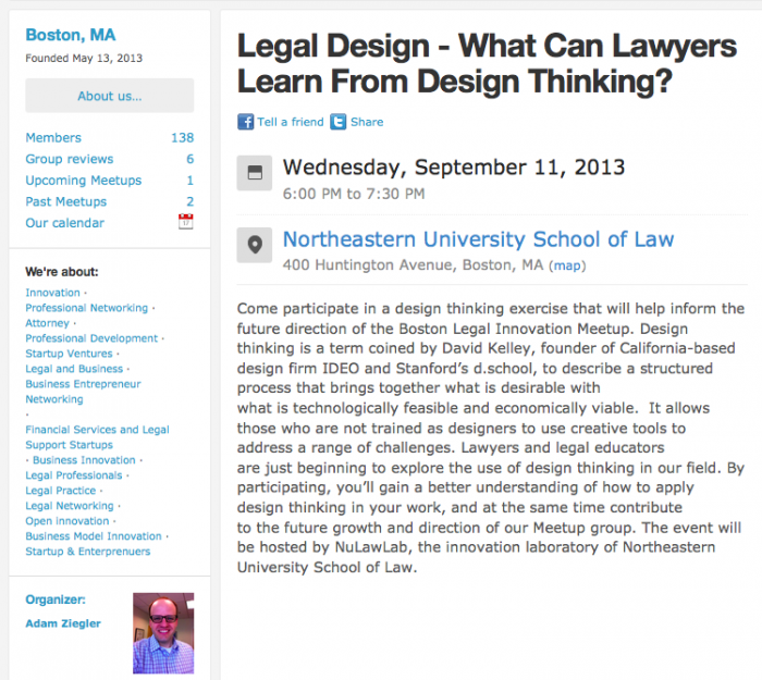Open Law Lab - Boston Legal Design Thinking Meetup