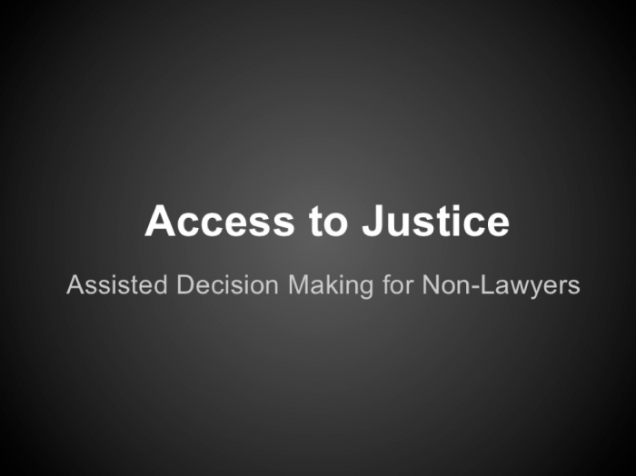 Open Law Lab - Access to Justice tech