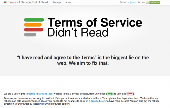 Open Law Lab - Terms of Service Didnt Read