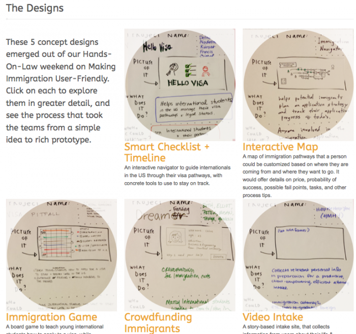 Program for Legal Tech adn Design - Law By Design Workshop - Immigration user-Friendly