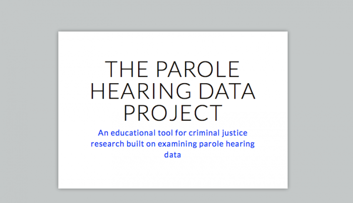 The Parole Hearing Data Project - Open Law Lab