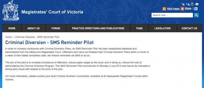 Court Hearing SMS - Australia
