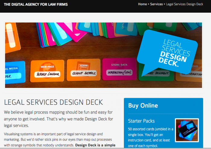 Open Law Lab - Legal Services Design Deck