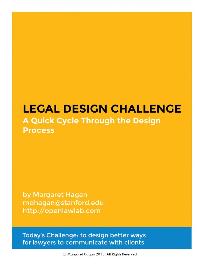Margaret Hagan - Legal Design Challenge worksheets
