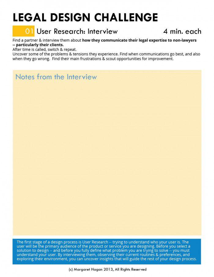 Margaret Hagan - Legal Design Challenge worksheets2