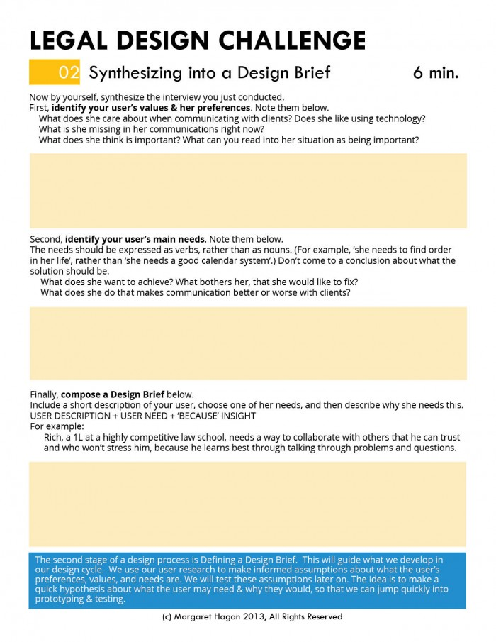 Margaret Hagan - Legal Design Challenge worksheets3