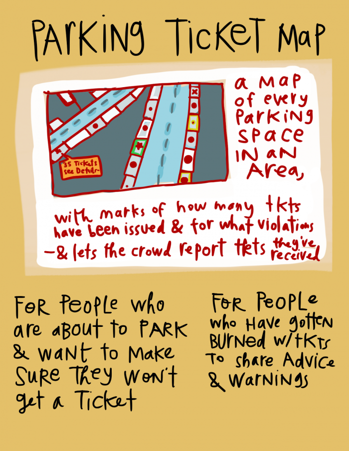 Legal Design Idea - Parking Ticket Map