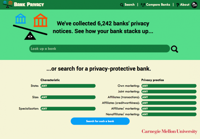 Open Law Lab - CUPs - bank privacy notices