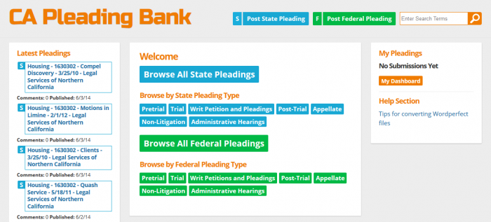 Open Law Lab - CA Pleading Bank