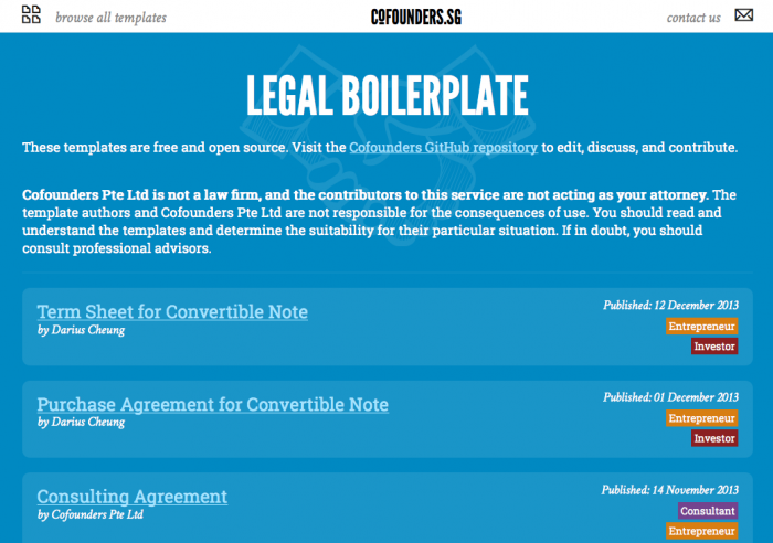 Open Law Lab - Github for Law - Cofounders Legal 2