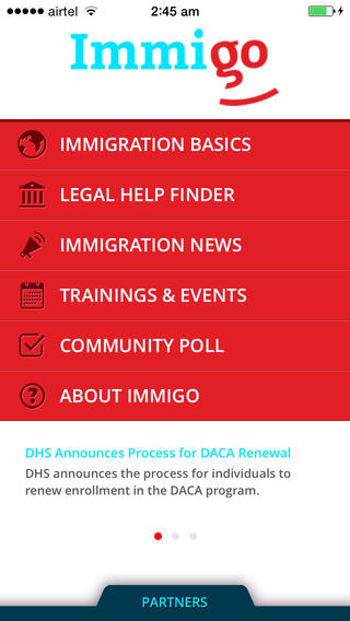 Resource sharing - Immigo - Immigration Advocates Resouce Sharing app 1