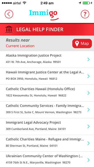 Resource sharing - Immigo - Immigration Advocates Resouce Sharing app 3