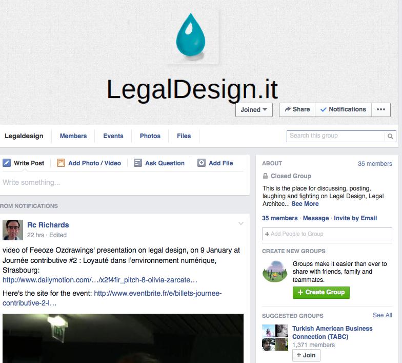 Legal design facebook group
