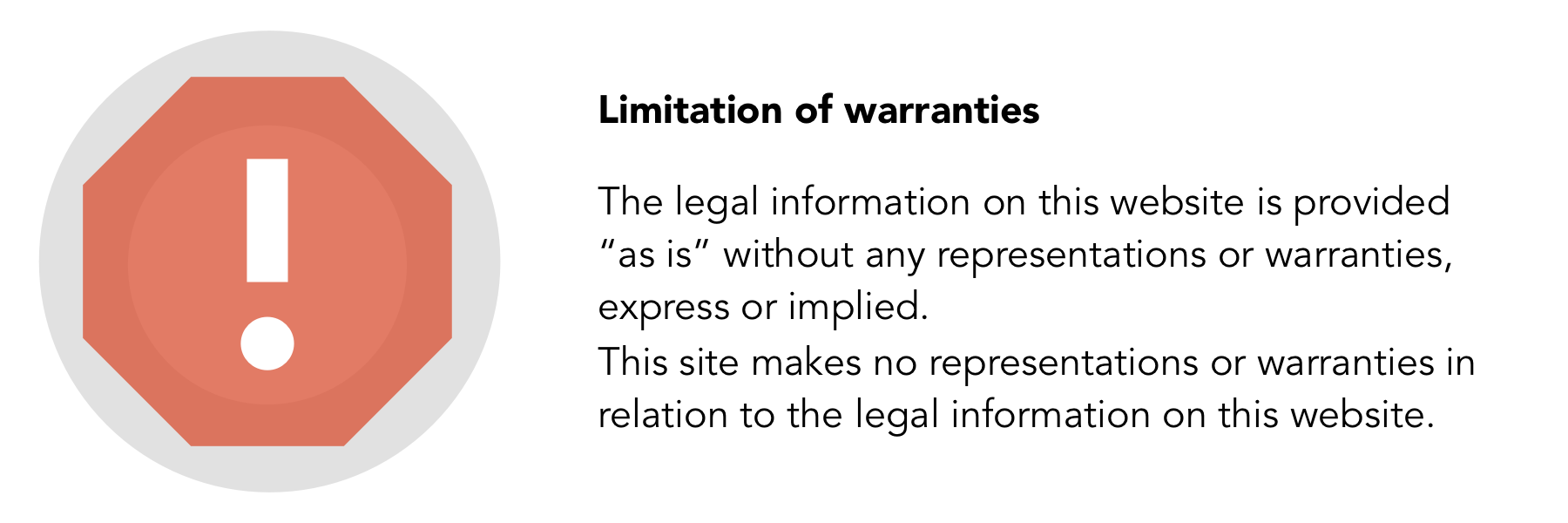 Legal Icon - limitation of warranties