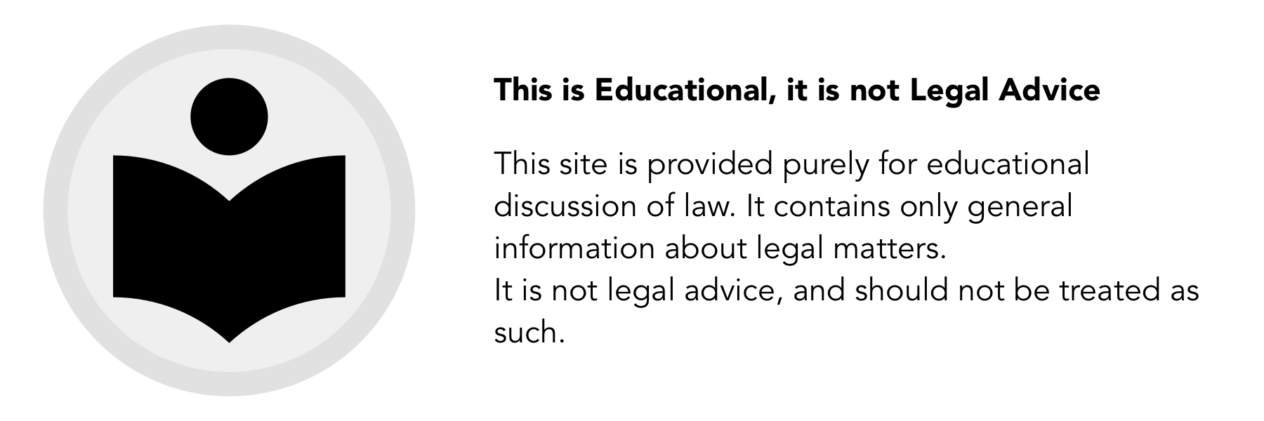 Legal Icons - Educational not Advice