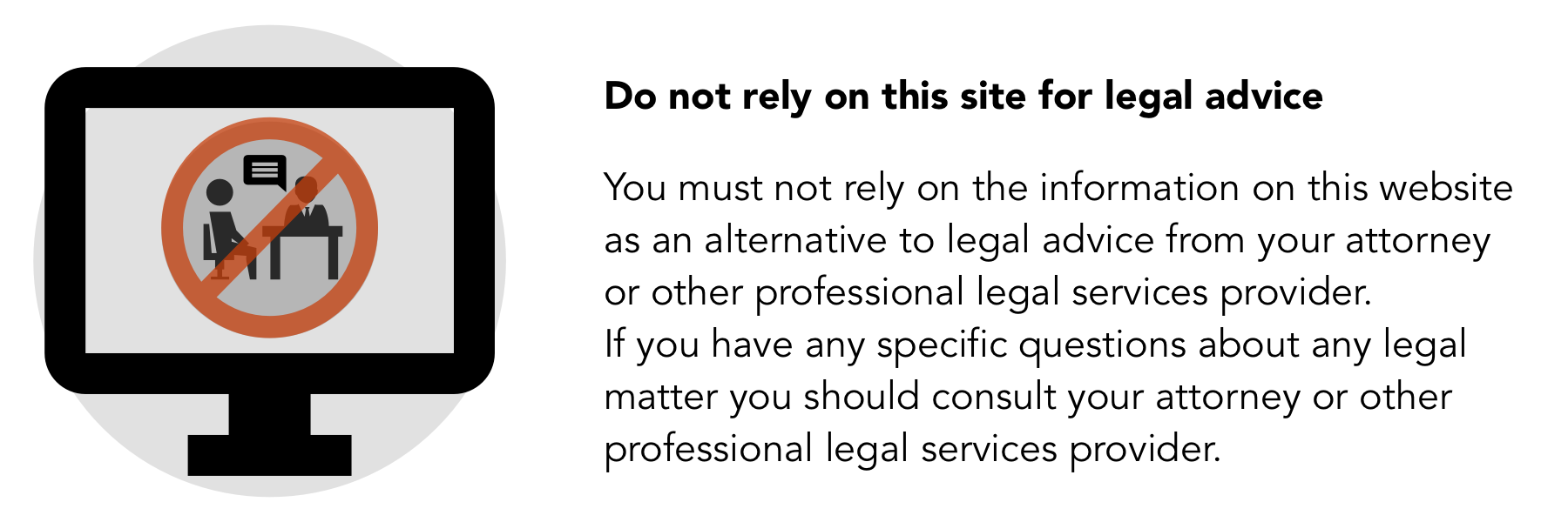 Legal Icons - this is not legal advice