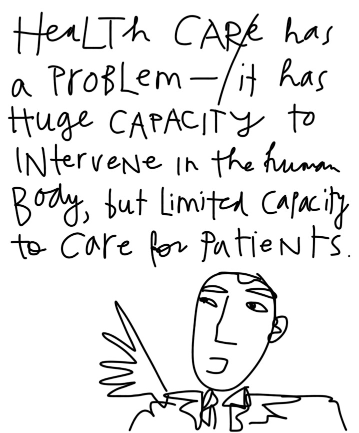 Health Care has a problem with care for its patients