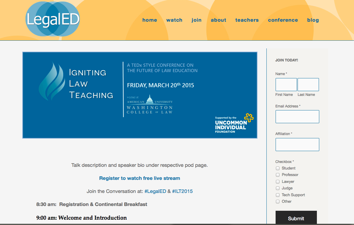 Legal Ed Redesign - Igniting Law Teaching - Ted for law schools -Screen Shot 2015-03-14 at 4.23.09 PM