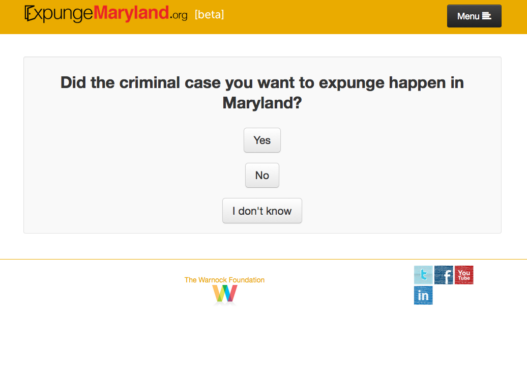National Expungment Project - ExpungeMaryland - crim justice app - Screen Shot 2015-04-06 at 1.57.01 PM