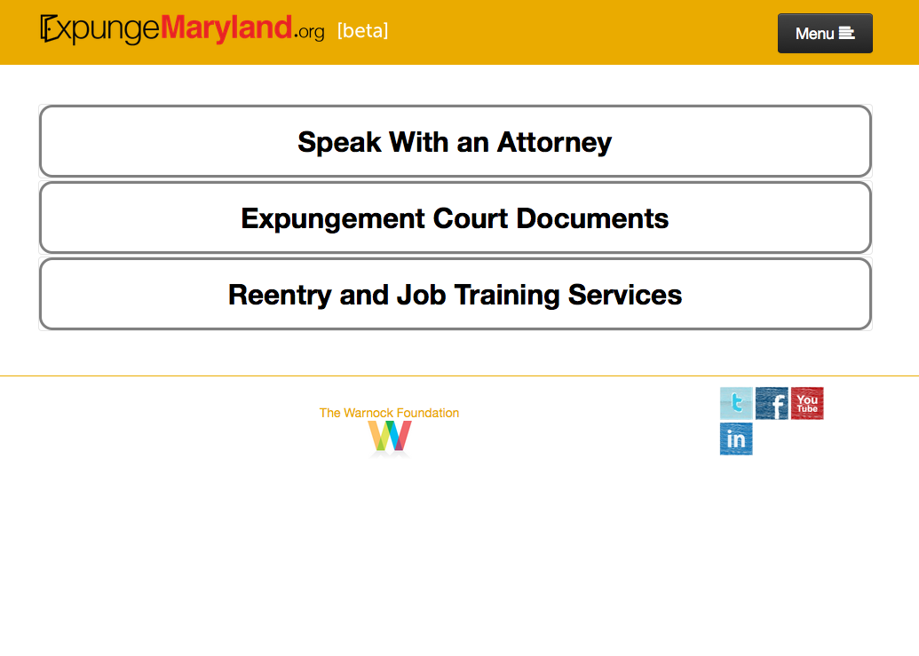 National Expungment Project - ExpungeMaryland - crim justice app - Screen Shot 2015-04-06 at 1.57.43 PM