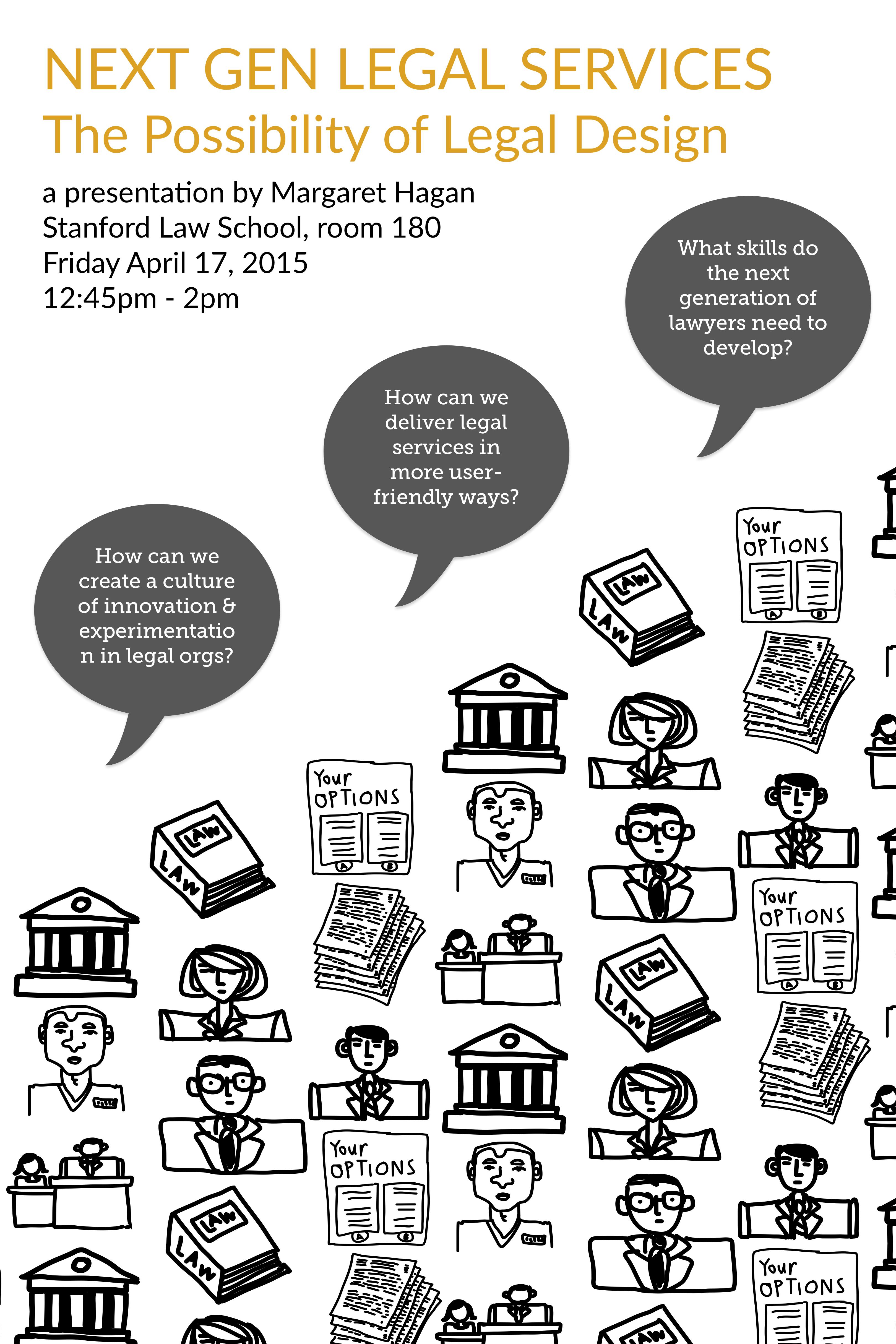 Next Gen Legal Services poster - a talk by Margaret Hagan