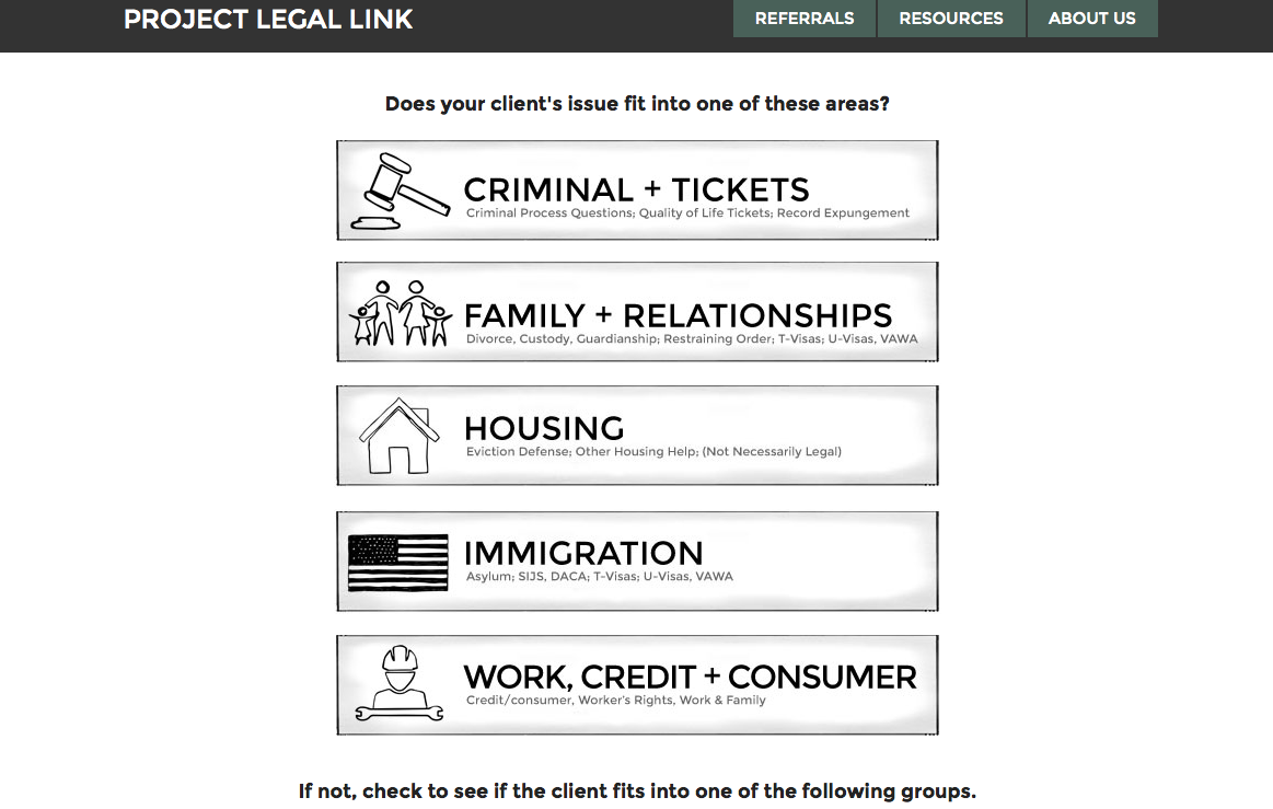 Project Legal Link - coordinating social and legal services - open law lab - Screen Shot 2015-04-24 at 10.34.04 PM