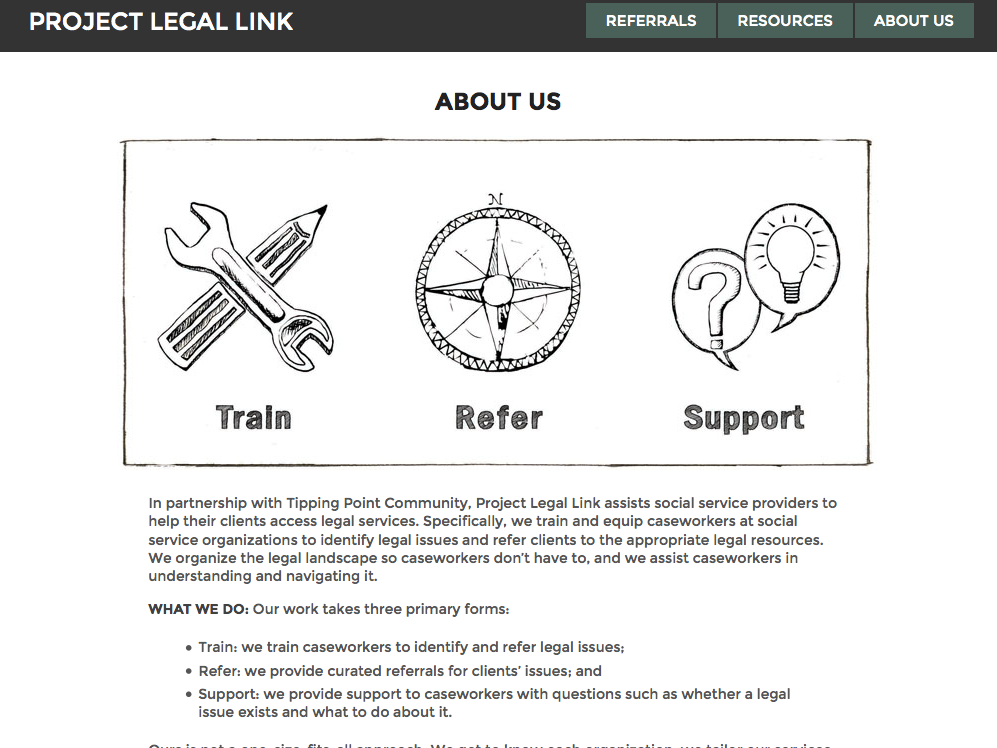 Project Legal Link - coordinating social and legal services - open law lab - Screen Shot 2015-04-25 at 3.26.54 PM